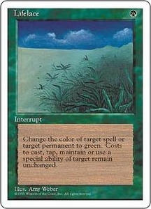 Magic the Gathering Fourth Edition Single Card Rare Lifelace