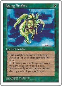 Magic the Gathering Fourth Edition Single Card Rare Living Artifact