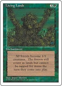 Magic the Gathering Fourth Edition Single Card Rare Living Lands