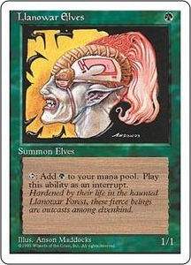 Magic the Gathering Fourth Edition Single Card Common Llanowar Elves