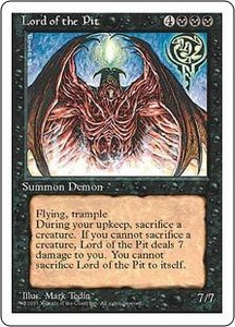Magic the Gathering Fourth Edition Single Card Rare Lord of the Pit