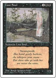 Magic the Gathering Fourth Edition Single Card Common Lost Soul