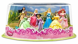 Disney Princess Exclusive 7 Piece PVC Figurine Playset #2 [Pocahontas, Cinderella, Aurora, Ariel, Tiana, Jasmine and Belle]