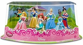 Disney Princess Exclusive 7 Piece PVC Figurine Playset #1 [Jasmine, Tiana, Aurora, Snow White, Ariel, Cinderella and Mulan]