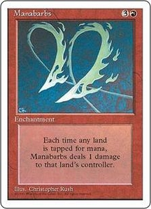 Magic the Gathering Fourth Edition Single Card Rare Manabarbs Played Condition