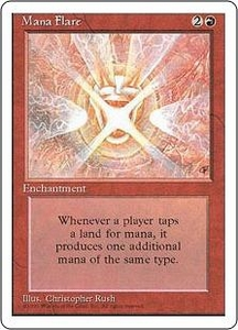 Magic the Gathering Fourth Edition Single Card Rare Mana Flare
