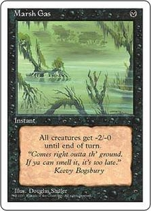 Magic the Gathering Fourth Edition Single Card Common Marsh Gas