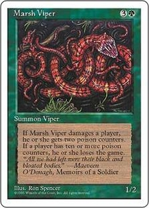 Magic the Gathering Fourth Edition Single Card Common Marsh Viper