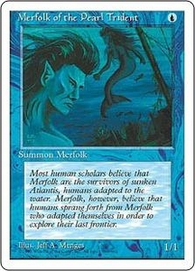 Magic the Gathering Fourth Edition Single Card Common Merfolk of the Pearl Trident