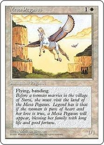 Magic the Gathering Fourth Edition Single Card Common Mesa Pegasus