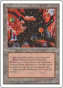 Magic the Gathering Fourth Edition Single Card Uncommon Mishra's Factory