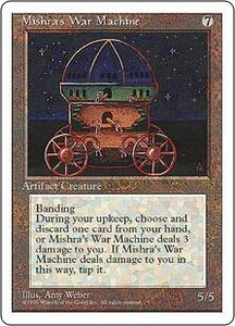 Magic the Gathering Fourth Edition Single Card Rare Mishra's War Machine