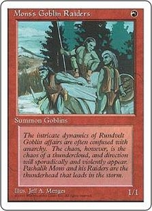 Magic the Gathering Fourth Edition Single Card Common Mons's Goblin Raiders