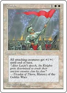 Magic the Gathering Fourth Edition Single Card Common Morale