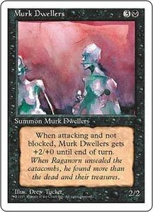 Magic the Gathering Fourth Edition Single Card Common Murk Dwellers