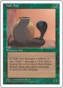Magic the Gathering Fourth Edition Single Card Common Nafs Asp