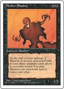 Magic the Gathering Fourth Edition Single Card Rare Nether Shadow