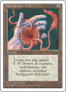 Magic the Gathering Fourth Edition Single Card Rare Nevinyrral's Disk