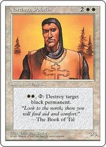 Magic the Gathering Fourth Edition Single Card Rare Northern Paladin