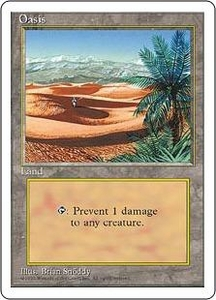 Magic the Gathering Fourth Edition Single Card Uncommon Oasis
