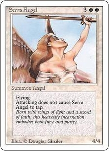 Magic the Gathering Revised Edition Single Card Uncommon Serra Angel