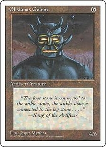 Magic the Gathering Fourth Edition Single Card Uncommon Obsianus Golem