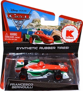 Disney / Pixar CARS 2 Movie Exclusive 1:55 Die Cast Car with Synthetic Rubber Tires Francesco Bernoulli