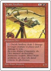 Magic the Gathering Fourth Edition Single Card Uncommon Orcish Artillery