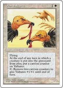 Magic the Gathering Fourth Edition Single Card Uncommon Osai Vultures