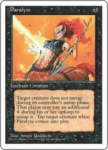 Magic the Gathering Fourth Edition Single Card Common Paralyze
