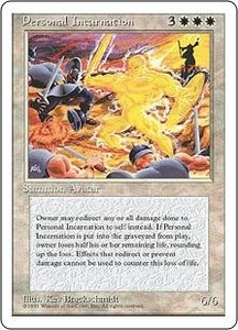 Magic the Gathering Fourth Edition Single Card Rare Personal Incarnation