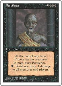 Magic the Gathering Fourth Edition Single Card Common Pestilence