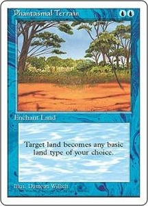 Magic the Gathering Fourth Edition Single Card Common Phantasmal Terrain