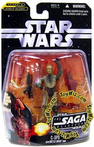 Star Wars Saga 2006 Basic Action Figure #17 C-3PO with Battle Droid Head [Wearing Protocol]