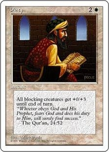 Magic the Gathering Fourth Edition Single Card Common Piety