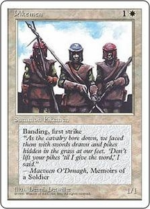 Magic the Gathering Fourth Edition Single Card Common Pikemen
