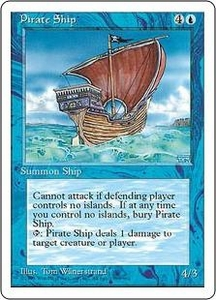 Magic the Gathering Fourth Edition Single Card Rare Pirate Ship