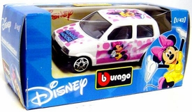 Disney Burago 1/43 Scale DieCast Car Minnie Mouse [White Paint Job]