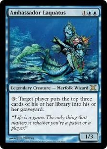 Magic the Gathering Tenth Edition Single Card Rare #65 Ambassador Laquatus
