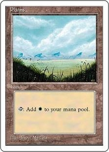 Magic the Gathering Fourth Edition Single Card Land Plains [Random Artwork]