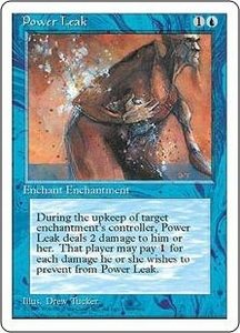 Magic the Gathering Fourth Edition Single Card Common Power Leak