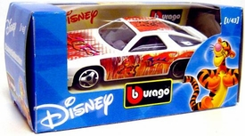 Disney Burago 1/43 Scale DieCast Car Tigger [White Paint Job]
