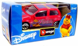 Disney Burago 1/43 Scale DieCast Car Pooh [Red Paint Job]