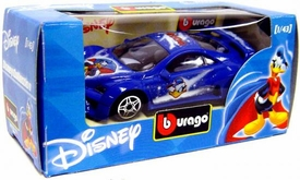 Disney Burago 1/43 Scale DieCast Car Donald Duck [Blue Paint Job]