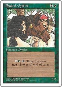 Magic the Gathering Fourth Edition Single Card Common Pradesh Gypsies
