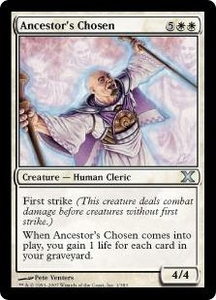 Magic the Gathering Tenth Edition Single Card Uncommon #1 Ancestor's Chosen