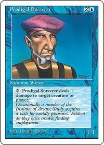 Magic the Gathering Fourth Edition Single Card Common Prodigal Sorcerer