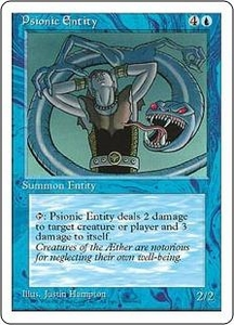 Magic the Gathering Fourth Edition Single Card Rare Psionic Entity