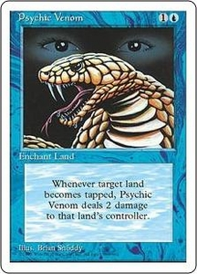 Magic the Gathering Fourth Edition Single Card Common Psychic Venom