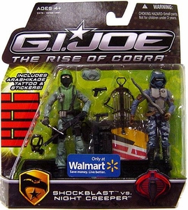 GI Joe Movie The Rise of Cobra 3 3/4 Inch Exclusive Action Figure 2-Pack Shockblast vs. Night Creeper